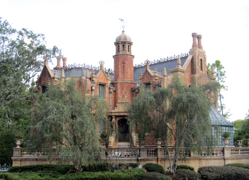 The Haunted Mansion can be moderately scary.