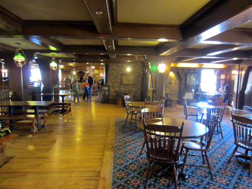 Most people aren't aware that there is an upstairs of Columbia Harbour House, so this area is often almost empty.