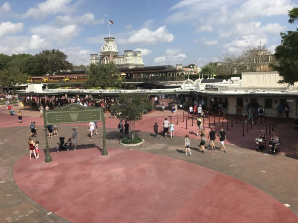 When is the last time you saw the entrance plaza for the Magic Kingdom this empty?