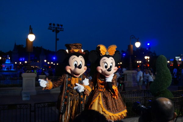 Mickey and Minnie pose for photos during Mickey's Not So Scary Halloween Party!