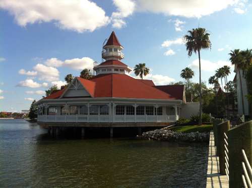 It's a bit fancy, but Narcoossee's is close to the Magic Kingdom.