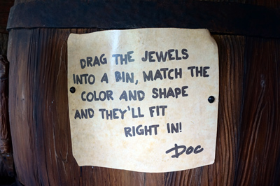 Doc's note about sorting the jewels.
