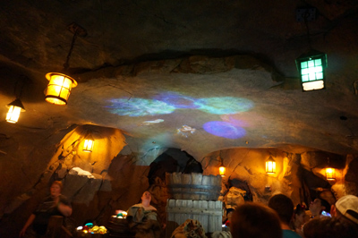 ...and see the Dwarfs projected onto the ceiling.