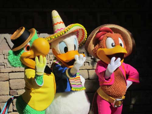 Enjoy a snack and say hello to the Three Caballeros!