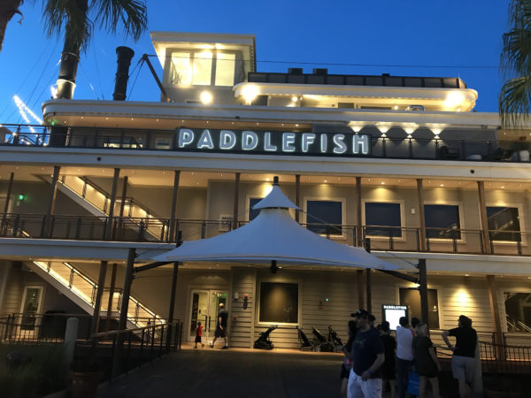 Dine aboard a paddleboat at Paddlefish!