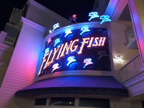 Flying Fish is a recently remodeled steak and seafood restaurant on Disney's Boardwalk!