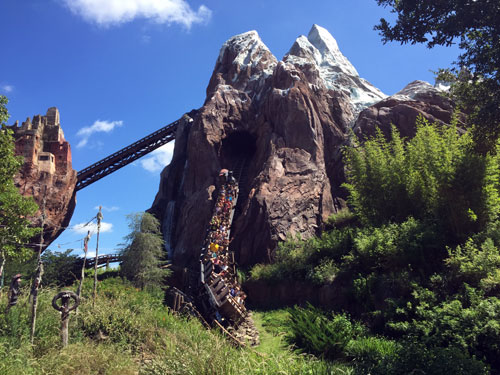 The single rider line can be a bit hard to find at Expedition Everest.