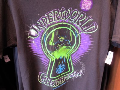 Here is a shirt specific to the Sorcerers Of The Magic Kingdom - a game exclusive to the Magic Kingdom.