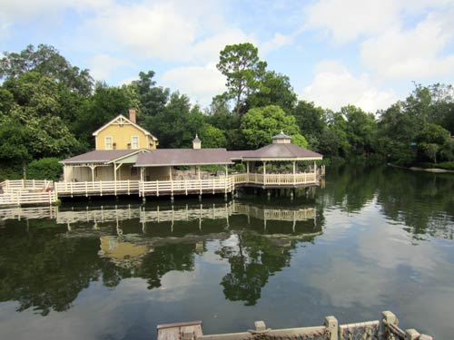 Plenty of places to sit and relax on Tom Sawyer Island.