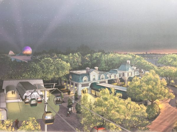 This concept art shows what the Epcot station will look like.