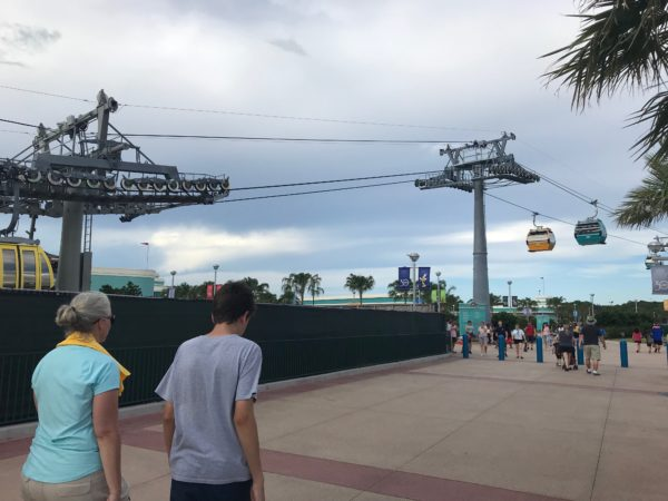 The Skyliner is running through testing phases right now, so while you see them flying overhead, they're not hauling passengers yet.