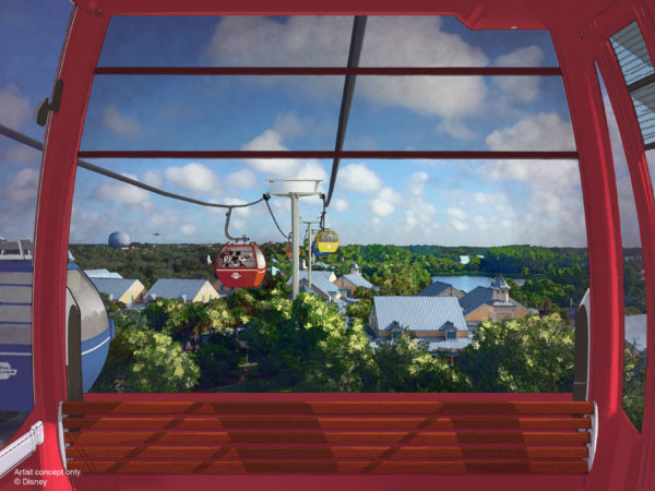 New new Disney Skyliner will connect two parks and four resorts. Photo credits (C) Disney Enterprises, Inc. All Rights Reserved.