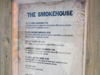 The menu covers the basics.