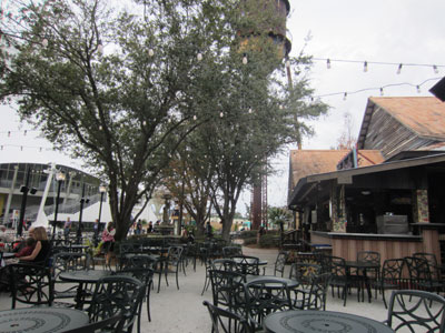 There is plenty of outdoor seating.