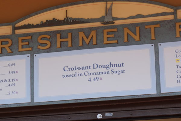 Try the Croissant Doughnut - The Cronut - at the Refreshment Port just outside of the Canada Pavilion.