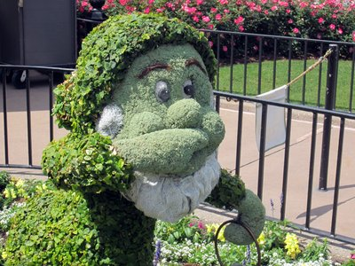 Maybe Sneezy is allergic to flowers?