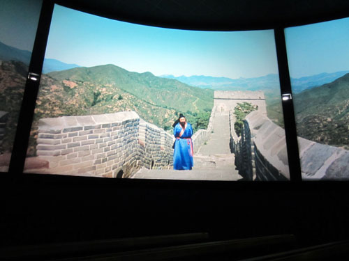 The new Soarin' film uses the same Great Wall location as the original China pavilion film.