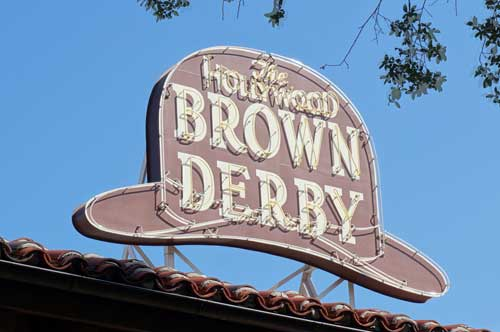 The Hollywood Brown Derby is a great restaurant, and is great for a solo visitor.