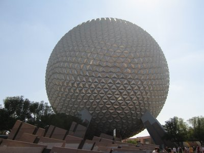 Spaceship Earth is the symbol of Epcot - and a fun attraction too.