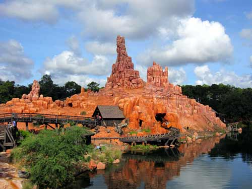 Big Thunder Mountain combines trains and a thrill ride. It's the perfect Disney attraction!