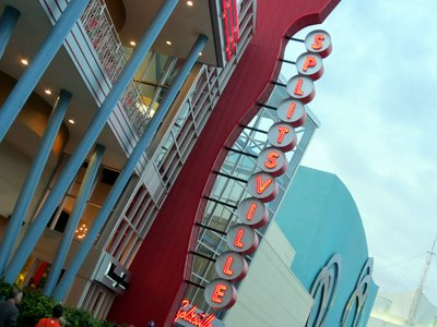 Splitsville is located next to Disney Quest in the Disney Springs West Side.
