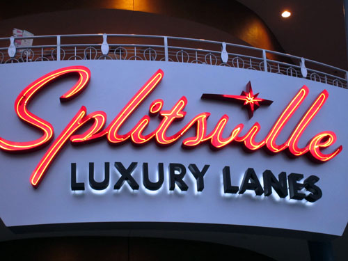 Splitsville Luxury Lanes is a great place for a late-night hangout.