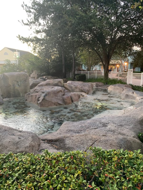 The mineral springs theme is obvious throughout the resort.