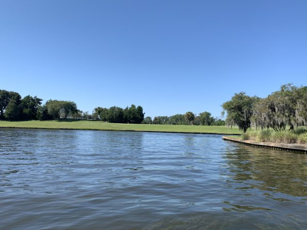 The Lake Buena Vista Golf Course is just across the water from Saratoga Springs.