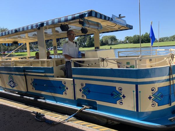 Water taxis provide transportation to and from Disney Springs!