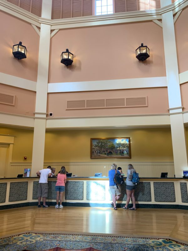 The lobby and front desk area's cathedral ceilings offer an airy and welcoming first stop.