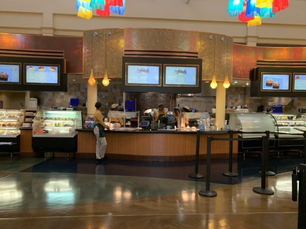 Order your food here! Unlike quick-service dining locations at value or moderate resorts or in the parks, Cast Members deliver your food to your table!