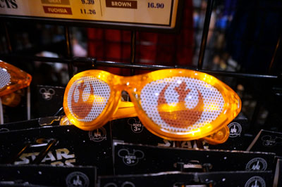 Glowing glasses.