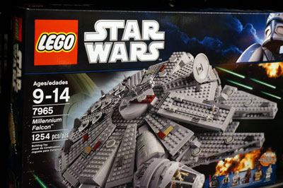 You will find plenty of Star Wars themed Lego sets.