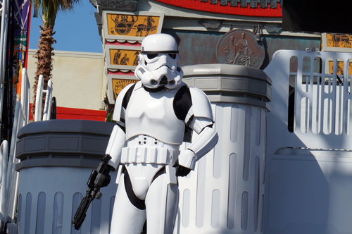 The Stormtroopers make a big presence at Star Wars Weekends.