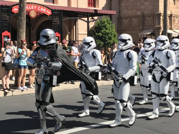 Captain Phasma leads the March of the First Order.