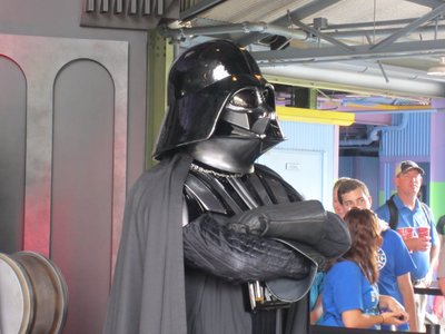 Darth Vader was menacing, as always.
