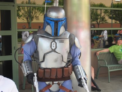 Jango Fett was hanging around near Toy Story Mania.