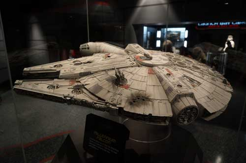 This model of the Millennium Falcon has great details.
