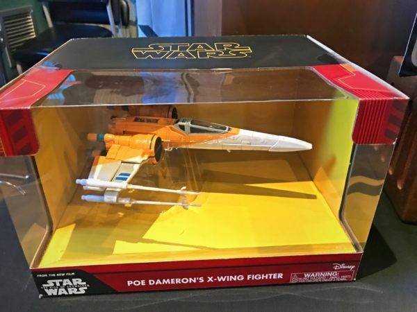 Poe Demeron's X-Wing Fighter.