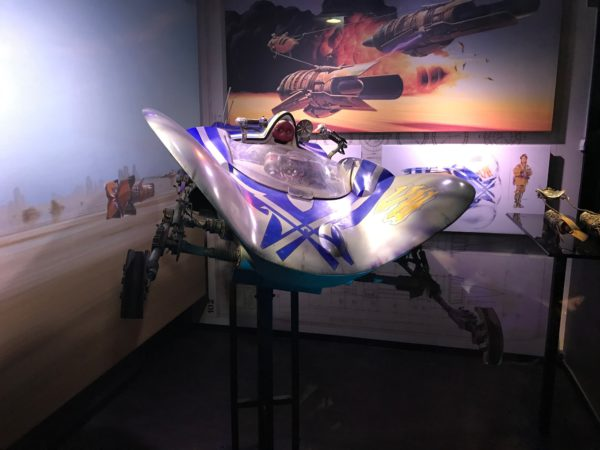 This pod racer on display was used in Star Wars: Episode 1.