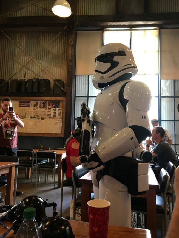 Get your picture taken with a Storm Trooper during lunch. They stop by your table - no waiting.