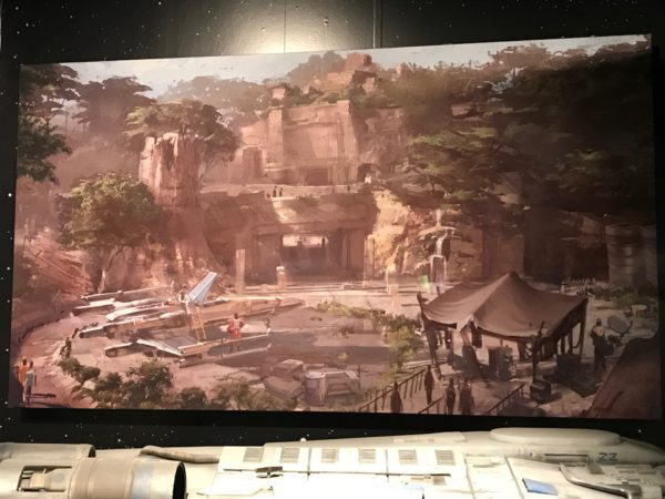 Concept art of Galaxy's Edge.