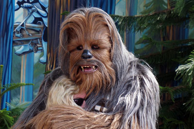 Who doesn't want a hug from a Wookie?