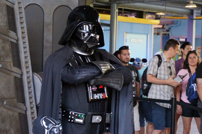 Darth Vader will give you an autograph, but probably not a hug.
