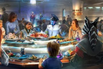Captain's Table. Photo credits (C) Disney Enterprises, Inc. All Rights Reserved