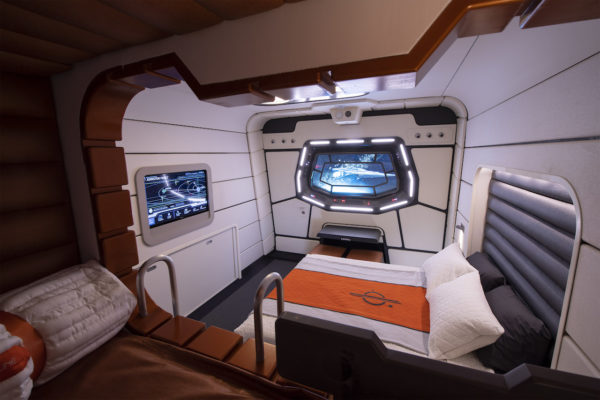 Cabins include beds and bunks. Photo credits (C) Disney Enterprises, Inc. All Rights Reserved