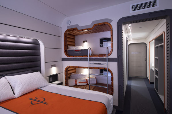 Galactic Starcruiser cabin. Nice. Photo credits (C) Disney Enterprises, Inc. All Rights Reserved