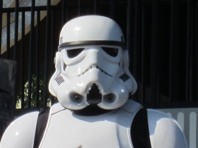 Storm Troopers look mean - but they know how to have fun.
