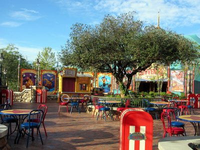 Storybook Circus Food Seating Area