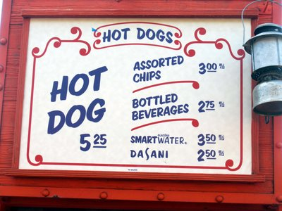 Storybook Circus Hot Dog Menu